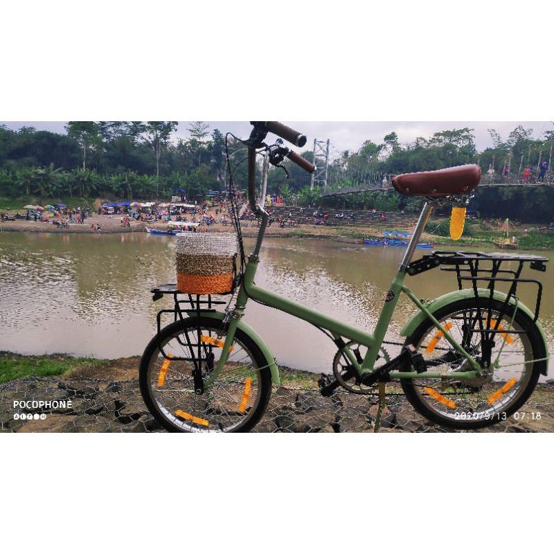 Sepeda Minion 20 Langka Minion Bike Frame Lurus Bukan Marubeni Belimbing Deki Benz Full Upgrade Shopee Indonesia