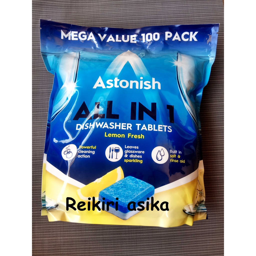 Astonish All in 1 dishwasher tablets || tablet pembersih piring | 100
