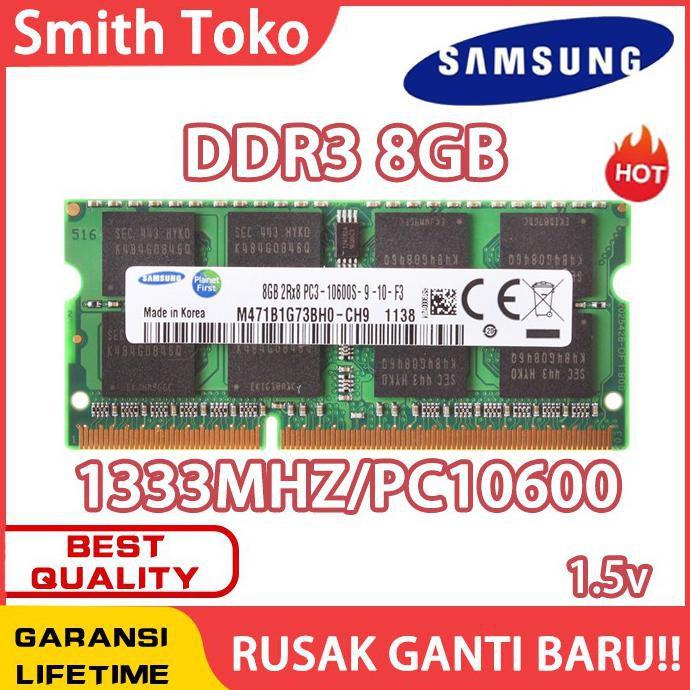 Ram laptop SAMSUNG SODIMM 8GB DDR3 10600/ DDR3-1333 8G sodim RAM