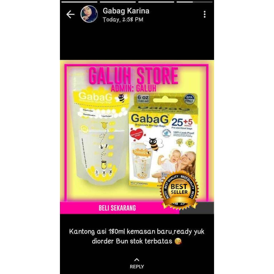 Mom Kantong Asi Best Gabag 180 Ml Gs Shopee Indonesia Milk Storage 30pc