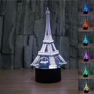 Perbandingan harga Limited Editions Lampu 3D LED Transparan Design Eifeel Tower / Lampu Meja Menara Eifeel lowest price - only Rp90.780