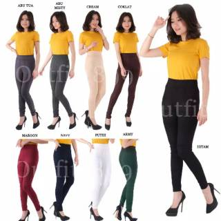 Legging Sport Wanita Legging Hw Import Polos Warna Legging Jumbo Fit To 90 Kg Lejing Dewasa Shopee Indonesia