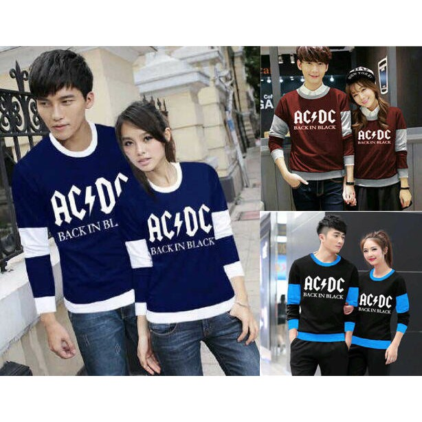 Sweater Couple / Sweater Pasangan / Baju Couple / Baju Pasangan New ACDC | Shopee Indonesia