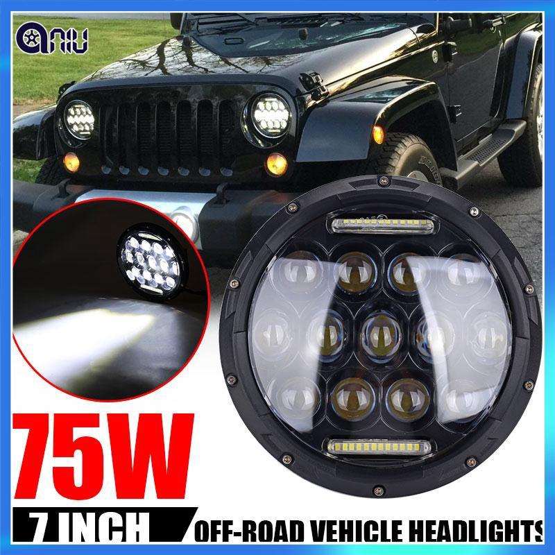 Jeep Wrangler Led Headlights >> Cod Lampu Led Headlight Mobil Drl Jeep Jk Jk Wrangler
