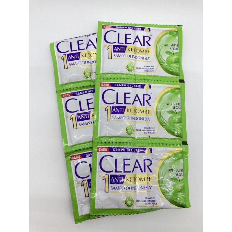 Shampo CLEAR SACHET 12x9ml-ANTI KETOMBE APEL