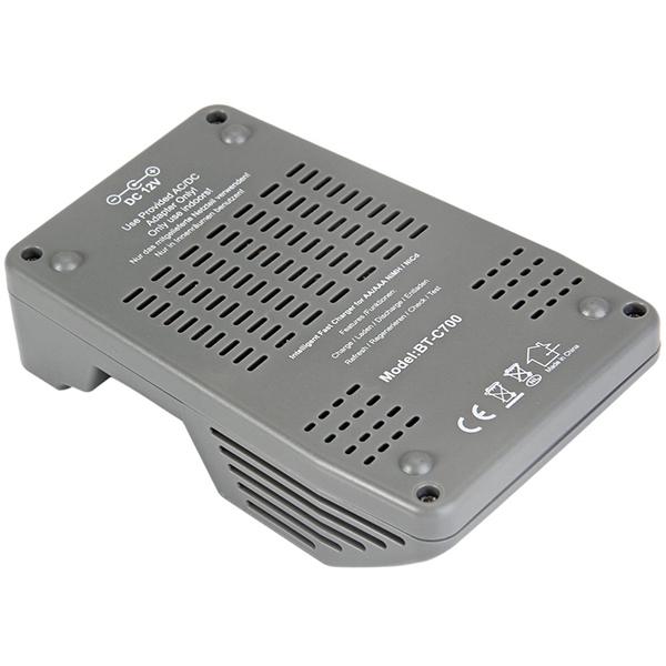 BT-C700 LCD Digital Smart NiCd NiMh AAA 16340 RCR123 14500 AA Battery Charger Di