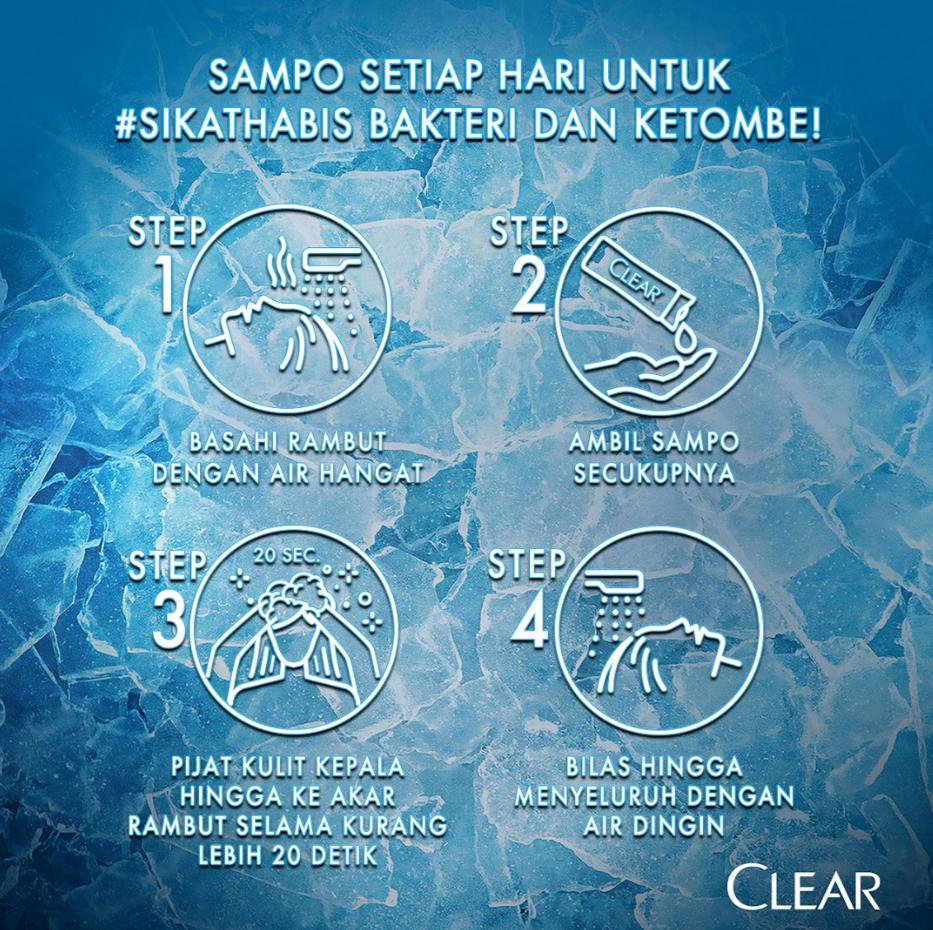 Clear Shampoo Ice Cool Menthol 300 Ml - Shampoo Anti Dandruff, Sampo Anti Ketombe-5