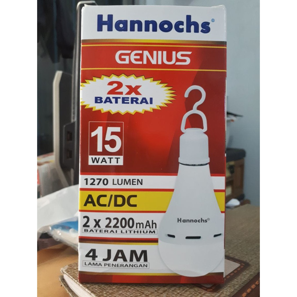 Lampu Led Hannochs Genius Ac Dc 10w Shopee Indonesia