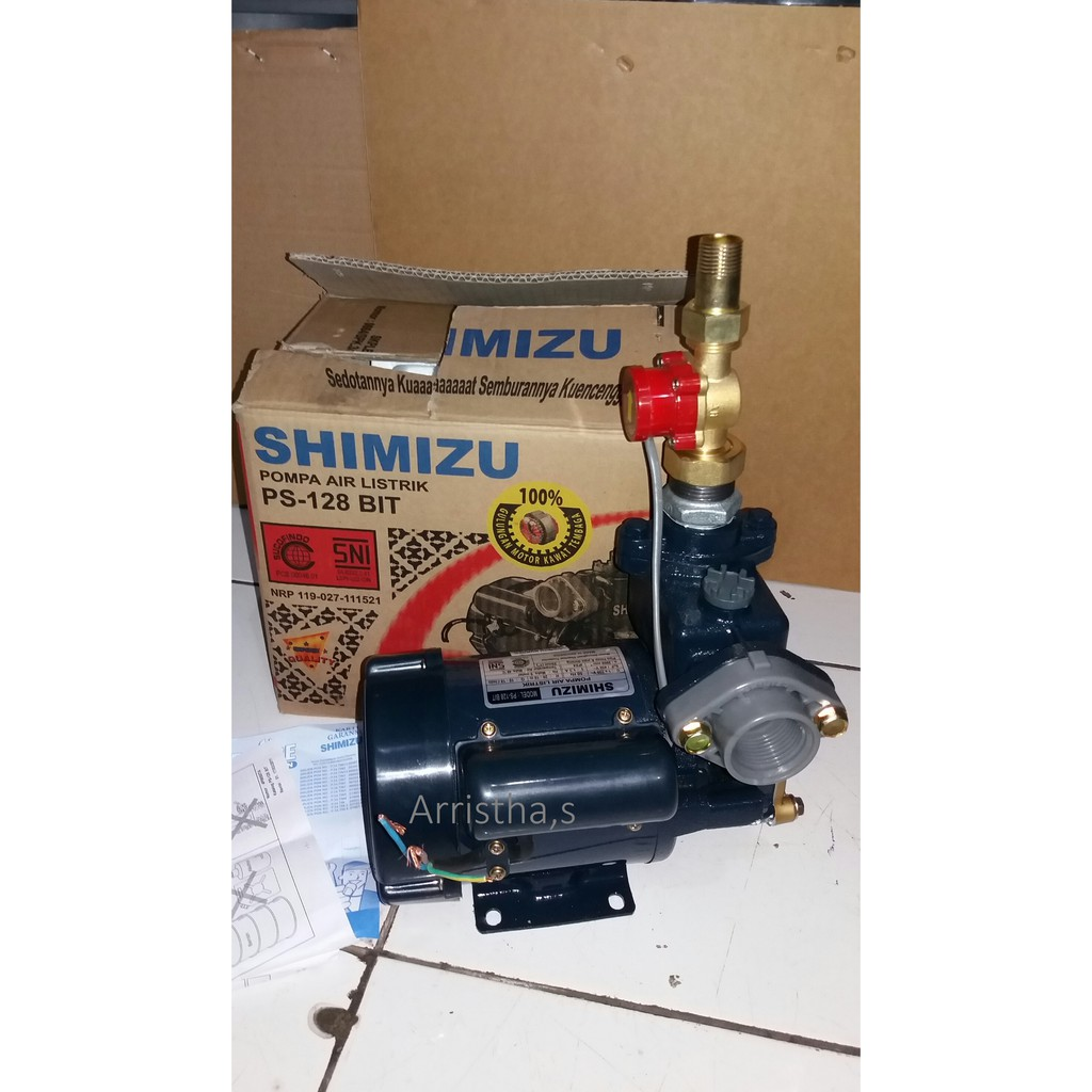 Pompa Air Shimizu Ps 128 Bit Otomatis Flow Swicth Shopee Indonesia