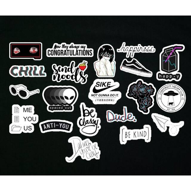 Black Tumblr Aesthetic Sticker Shopee Indonesia