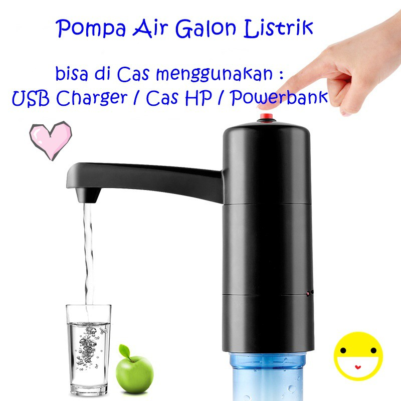 Es011 Pompa Air Galon Listrik Usb Charger Wireless Electric Water Pump Shopee Indonesia