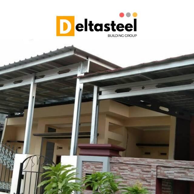 Kanopi Baja Ringan Minimalis Atap Spandek Pasir Shopee Indonesia