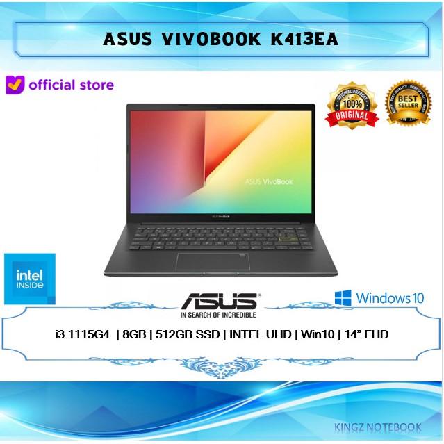 "LAPTOP ASUS VIVOBOOK K413EA i3-1115G4 8GB 512GB WIN10 14""FHD"