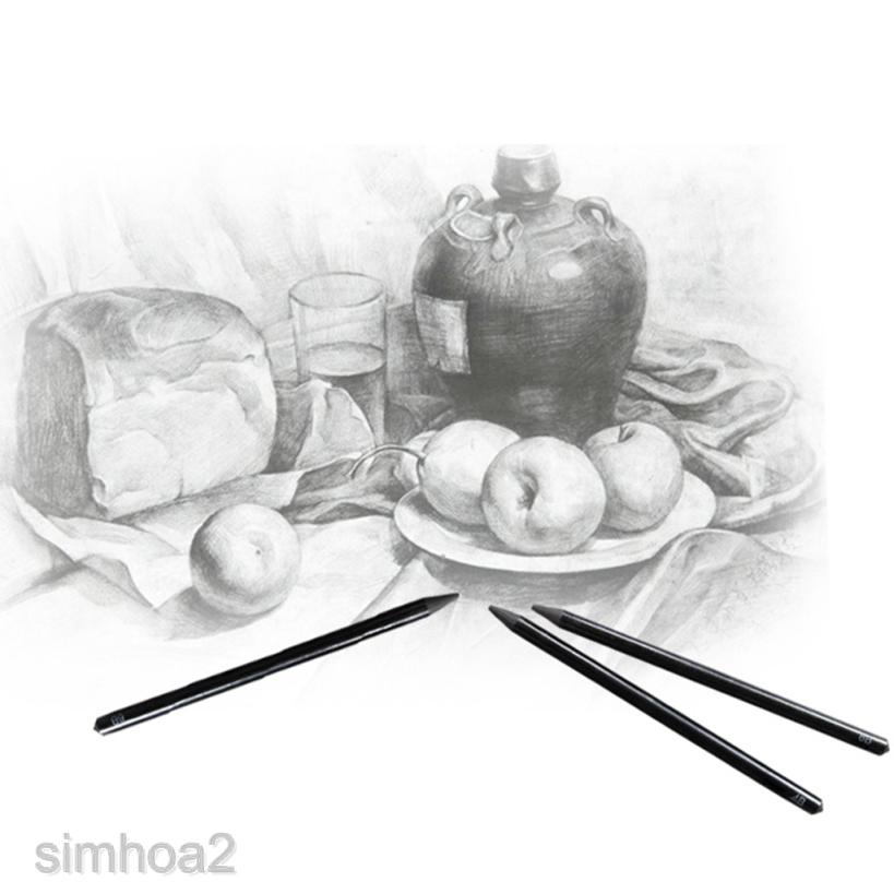 Simhoa2 6sets Sketch Drawing Charcoal Pencil Art Sketching Drawing 8b 6b 4b 2b Hb 2h Shopee Indonesia