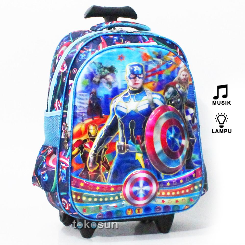Tas Trolley Frozen 7D Timbul Lampu Musik 2K Anak Sekolah SD | Shopee Indonesia
