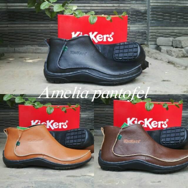sepatu pria sepatu kulit asli sepatu kerja pria sepatu Kickers sepatu boots 1b2d30d4e2