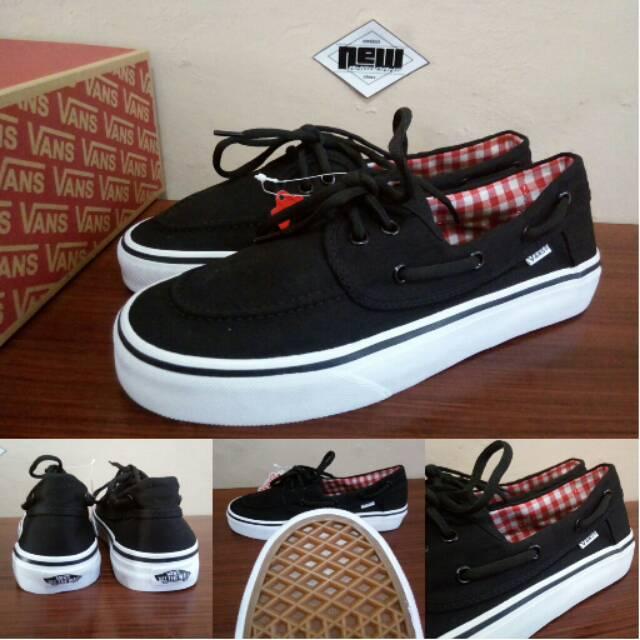 Sepatu Vans Zapato Zapatto Japato Black White Hitam Putih Flanel Gingham -  PREMIUM IMPORT  ddb1365a29