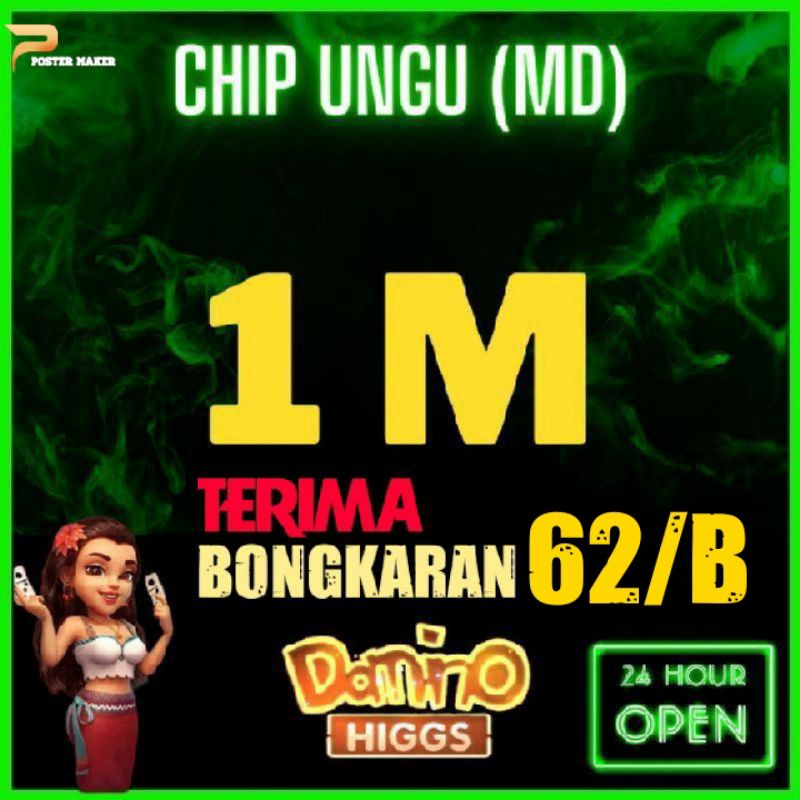 KOIN CHIP HIGGS DOMINO ISLAND | CHIP DOMINO 1M | CHIP DOMINO | 100M | 200M | 300M | 400M | 500M