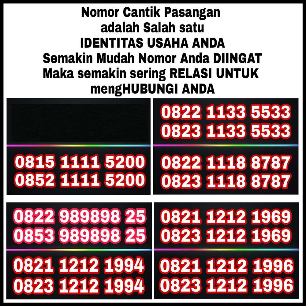 Nomor cantik perdana XL Seri Double AB 9595 0817 20 9595 10 Digit Rapi simple hoki