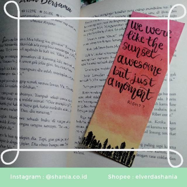 Cod Pembatas Novel Buku Lucu Aesthetic Murah Shopee Indonesia
