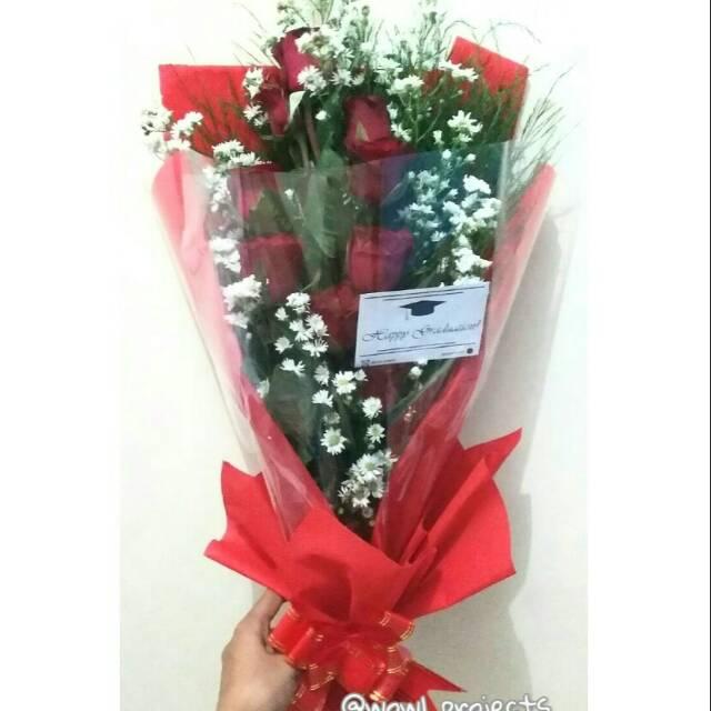 Buket Bunga Mawar Asli Buket Bunga Mawar Segar Fresh Flower Bouquet Buket Bunga Asli Shopee Indonesia