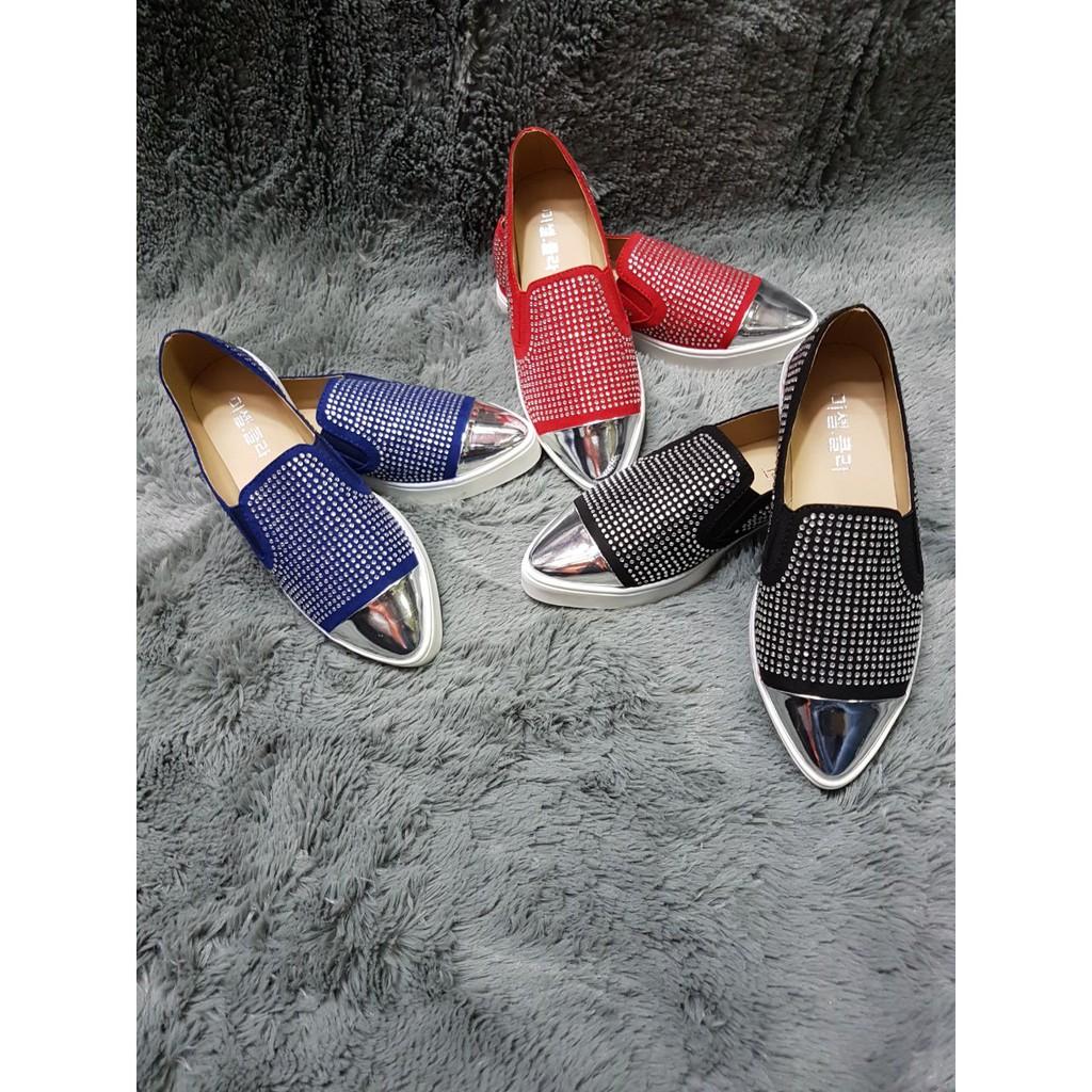 Slip On Cantik Homyped Shopee Indonesia Sepatu Wanita Hpl 1724 Maroon 38