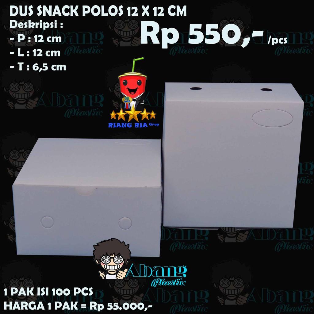 Dus Makanan Box Snack Dus Kotak Pesta Hajatan Uk 12 X 12 Putih