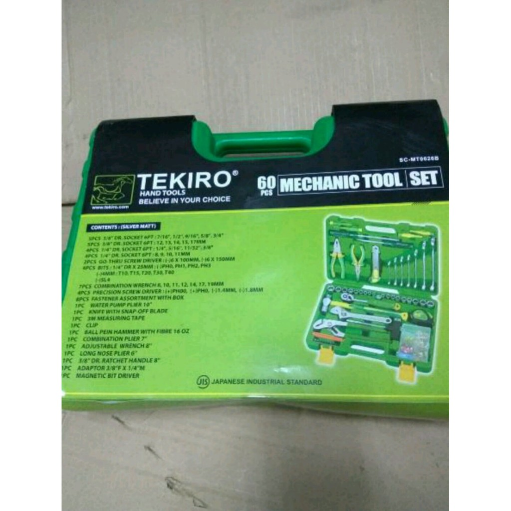 Mechanic Tool Set Tekiro 60pcs Shopee Indonesia Multipro Automotive 60 Pcs