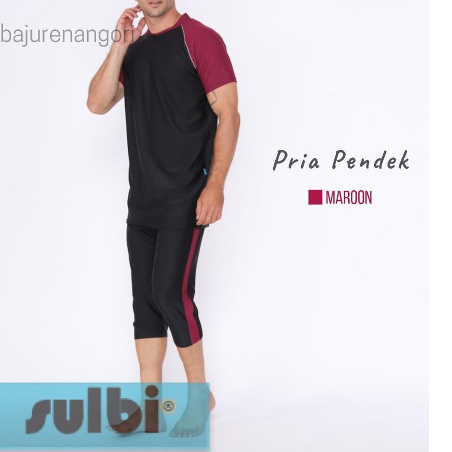Ready Stock Baju Renang Pria Remaja Dewasa SULBI Pendek