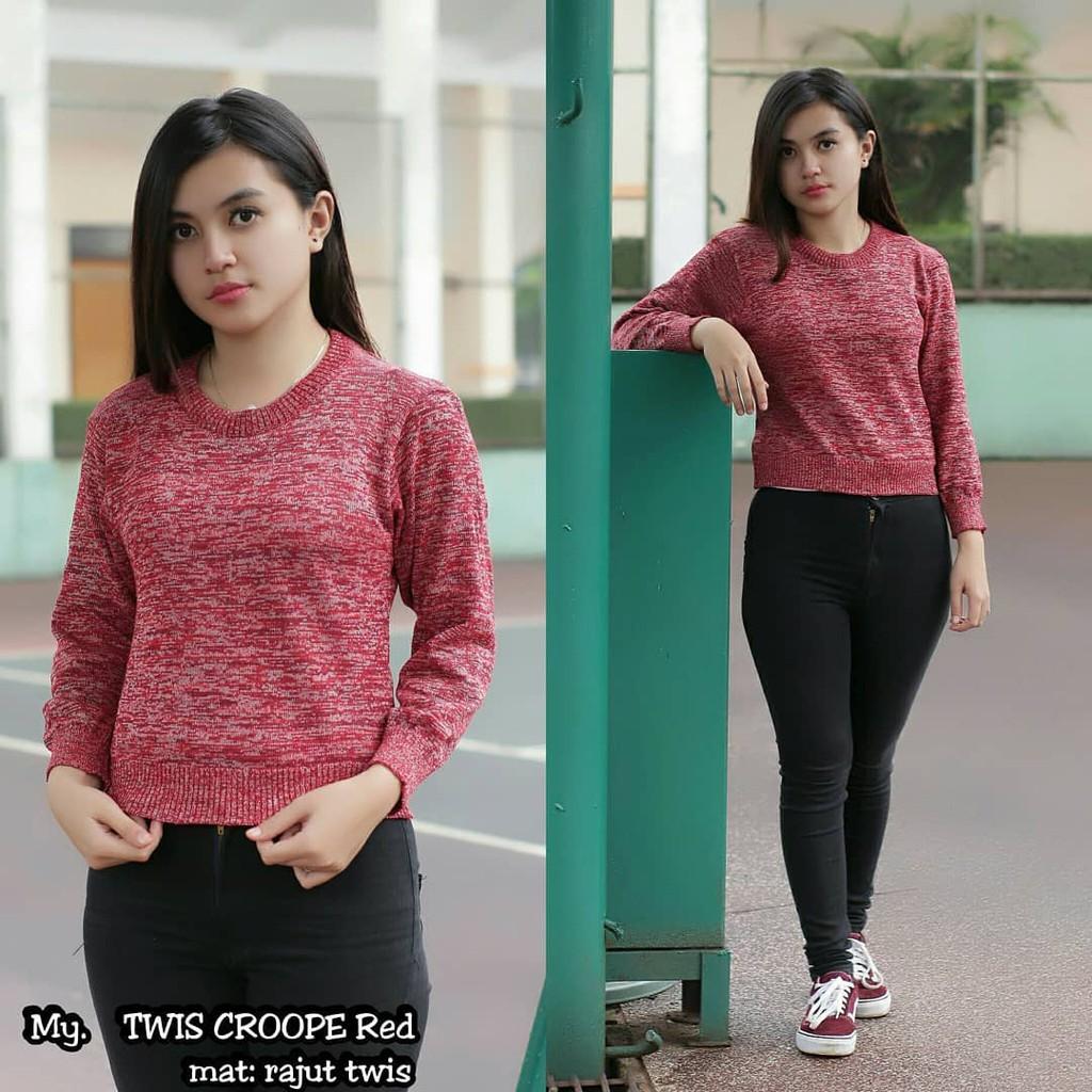 Raida Rajut Rumbai Rawis Sweater Fringe Murah Shopee Indonesia Knit Atasan Baju Wanita  Pakaian