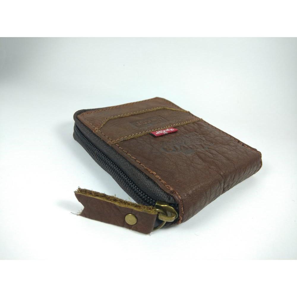 Card Holder Dompet Kartu Braun Buffel Kulit Asli Shopee Indonesia Tipis Slim Import Branded