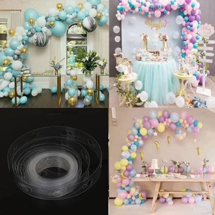 Stripe Tape Balon Dekorasi Strip Balon Arch Garland Dekorasi Balon