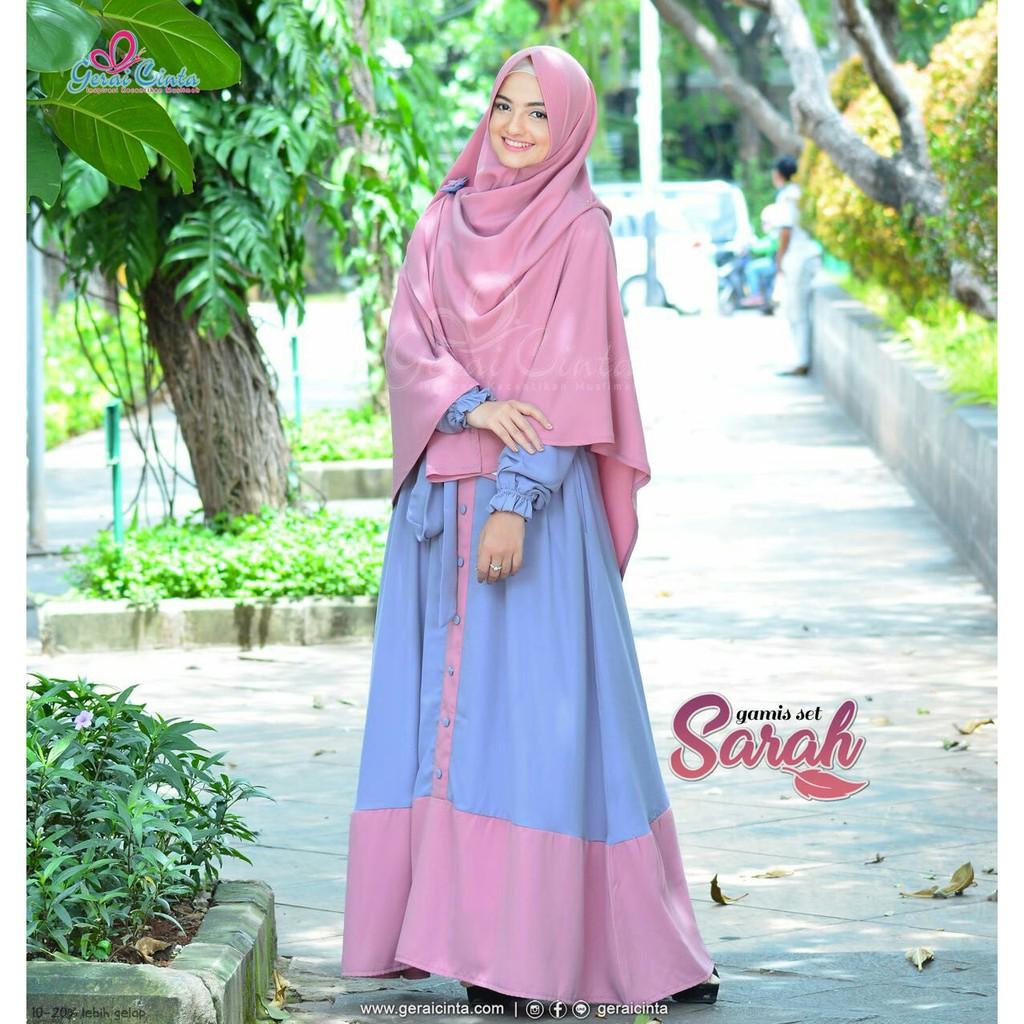 Gamis Set Sarah By Gerai Cinta Shopee Indonesia