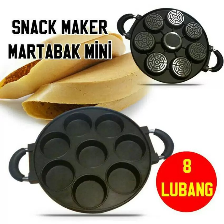 Cetakan Kue Martabak Mini Kue Lumpur Snack Maker 7 Lubang Datar Happy Call | Shopee Indonesia