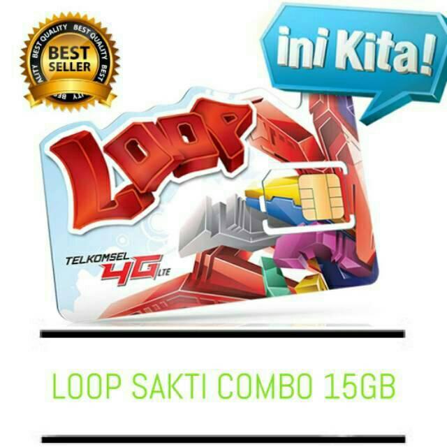 Kartu Sakti Telkomsel Combo loop Bisa daftar 15GB combo 75 ribu 30 hari