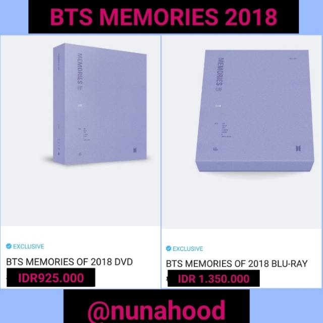 DP PO BTS MEMORIES 2018 DVD DAN BLURAY