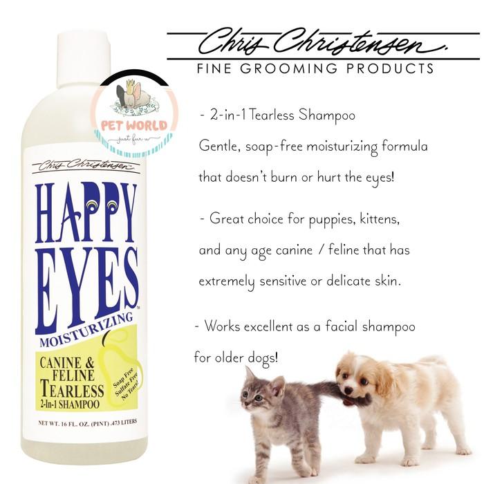Chris Christensen Happy Eyes Small - Shampoo Puppy Anjing Dog Hewan