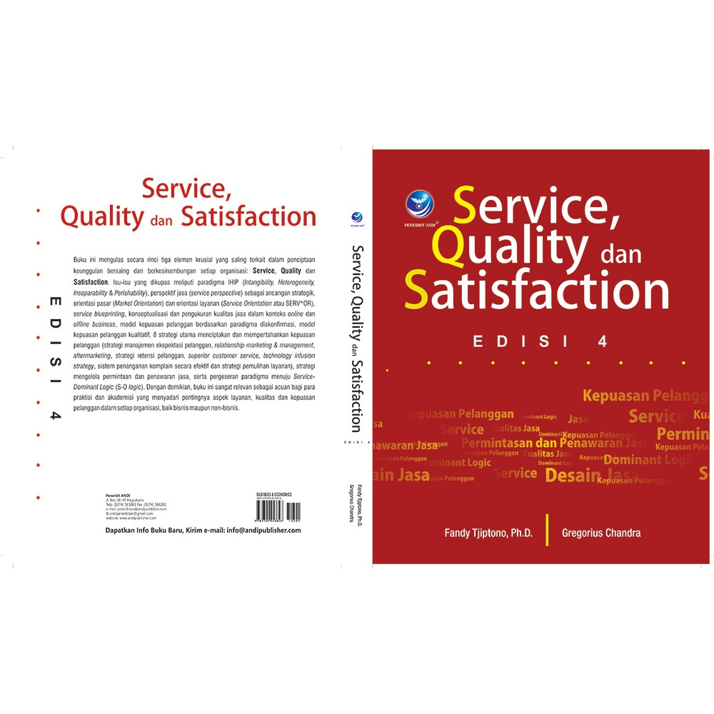 Service Quality Dan Satisfaction Edisi 4 Original Penerbit Shopee Indonesia