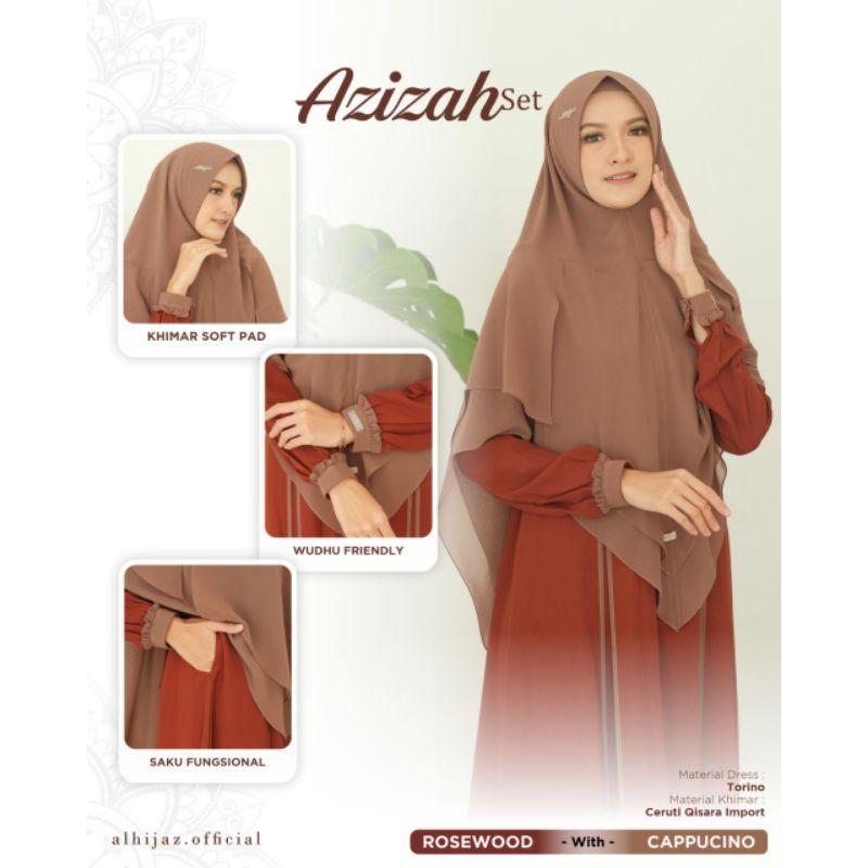 AZIZAH SET original by Alhijaz / Gamis branded ori