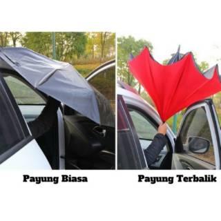 PAYUNG MOBIL MODEL TERBALIK ANTI BASAH KUYUP GAGANG MODEL C - PG141