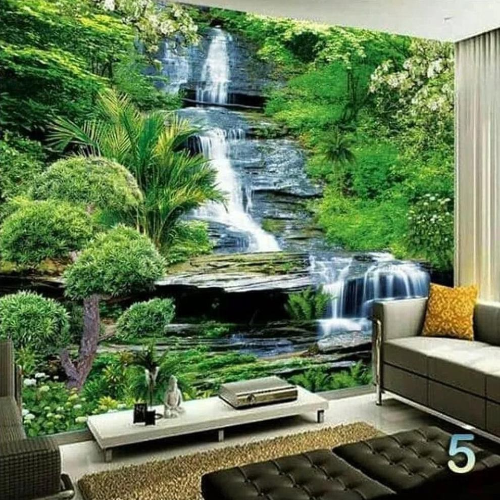 Promo WALLPAPER 3D WALLPAPER CUSTOM WALLPAPER DINDING WATER FALL