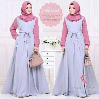 Busana Muslim Wanita Tunik Muslim Baju Muslim Baju Dress Longdress