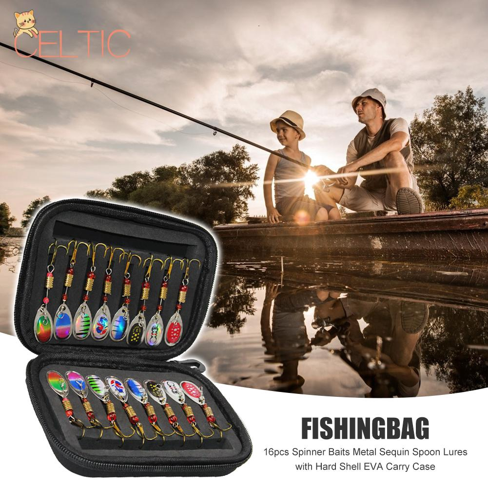 Sougayilang Fishing Spinner Spoon Lures Rotatable Inline Bass Trout Fishing Tackle Baits Pack of 30pcs
