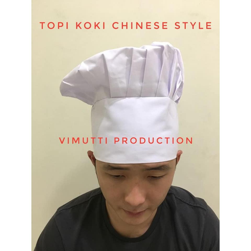 Topi Koki Chef Dewasa Putih Poly PE  7d4814e7af
