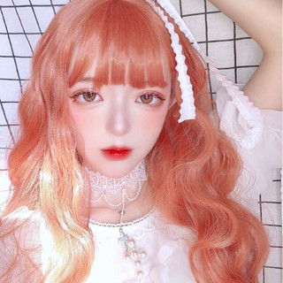 Wig Cosplay Wanita Wig Rambut Lurus Oranye Panjang Lolita Rambut Panjang 60CM Rambut Lurus Panjang Adik Wig Daily Wig Lolita Wig thumbnail
