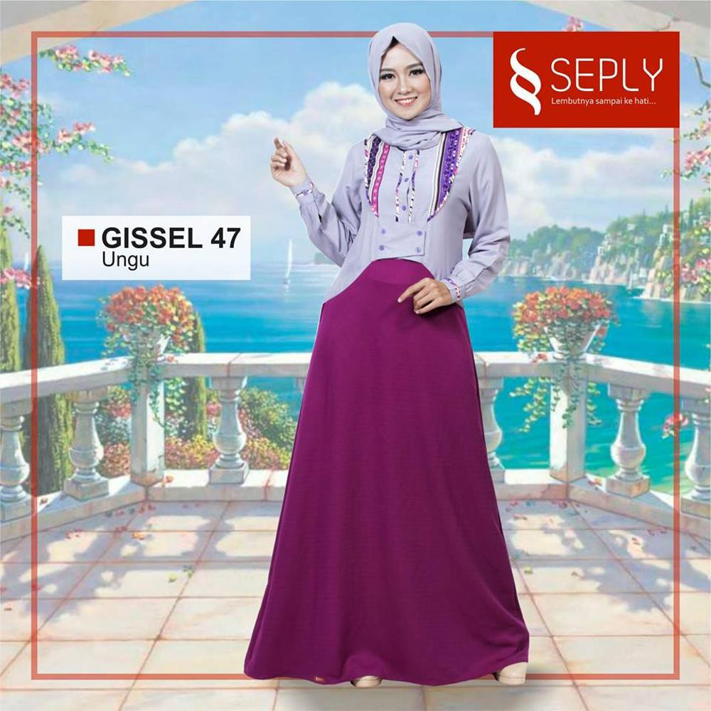 seply gissel 47 ungu L | Shopee Indonesia