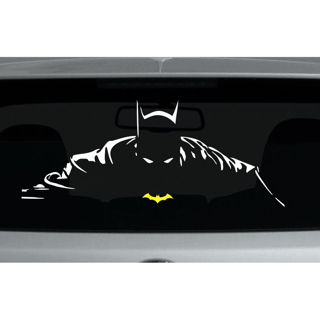 Joker ketawa batman cutting sticker siluet art aksesoris stiker mobil shopee indonesia