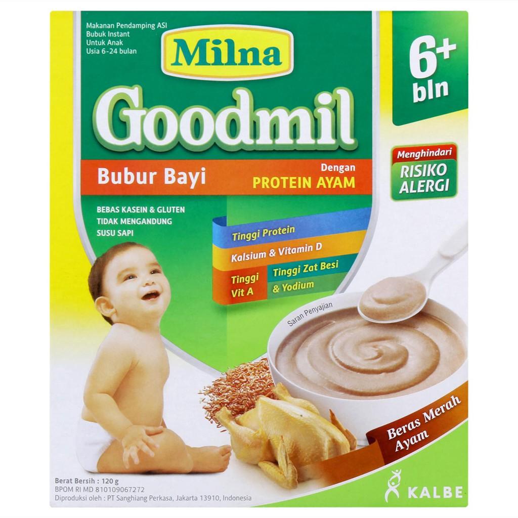Milna Goodmil Beras Merah Ayam 6 120 Gr Shopee Indonesia Promina Bc Tim Sapi Wortel Box 120gr