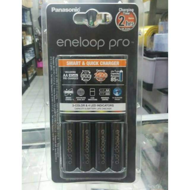 Panasonic Eneloop Pro Quick Charger + 4pcs Battery AA Rechargeable Pack | Shopee Indonesia