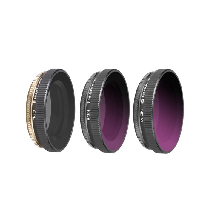 Sunnylife lens filter CPL, ND8 and ND16 set for Dji Osmo Action